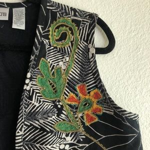Chico's Jackets & Coats - Chicos embroidered vest
